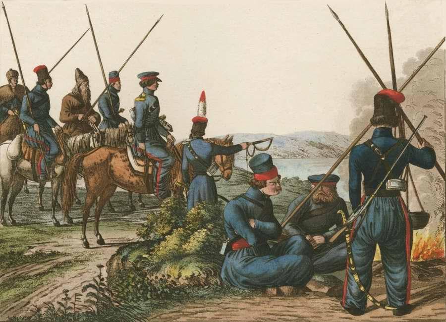 Донские казаки под Нюрнбергом (1814 год)