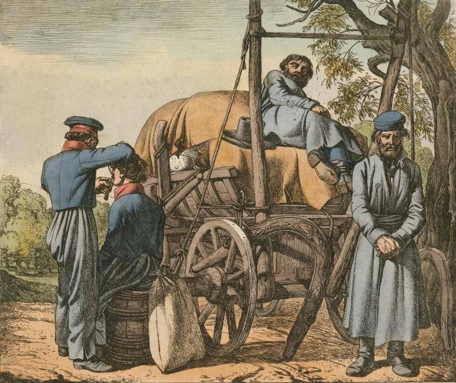 Казаки на привале (1816 год)