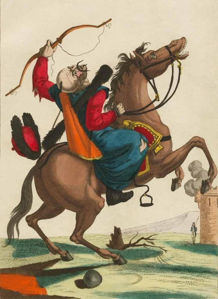 Калмыцкий всадник в момент наступления его неожиданной смерти