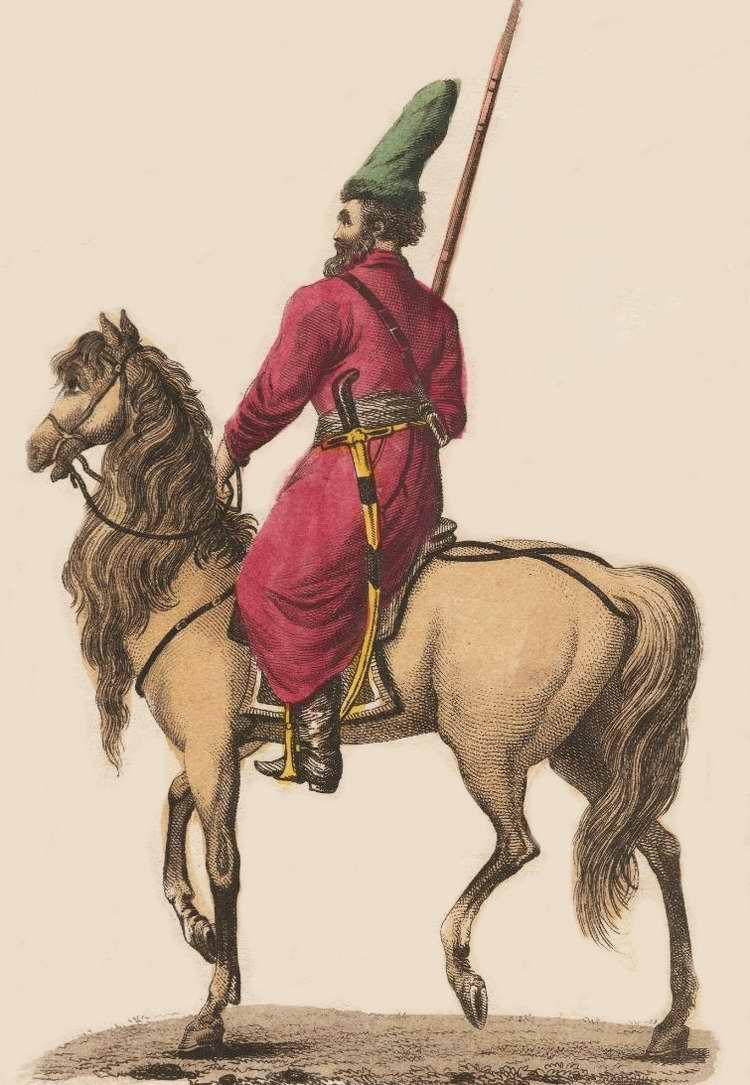 Казак иррегулярной кавалерии русской армии