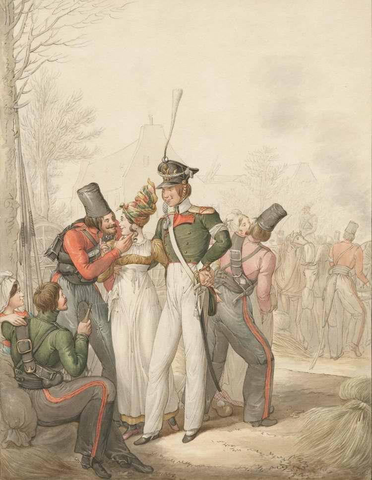 Казаки в Германии - развлекаются с женщинами(1813)
