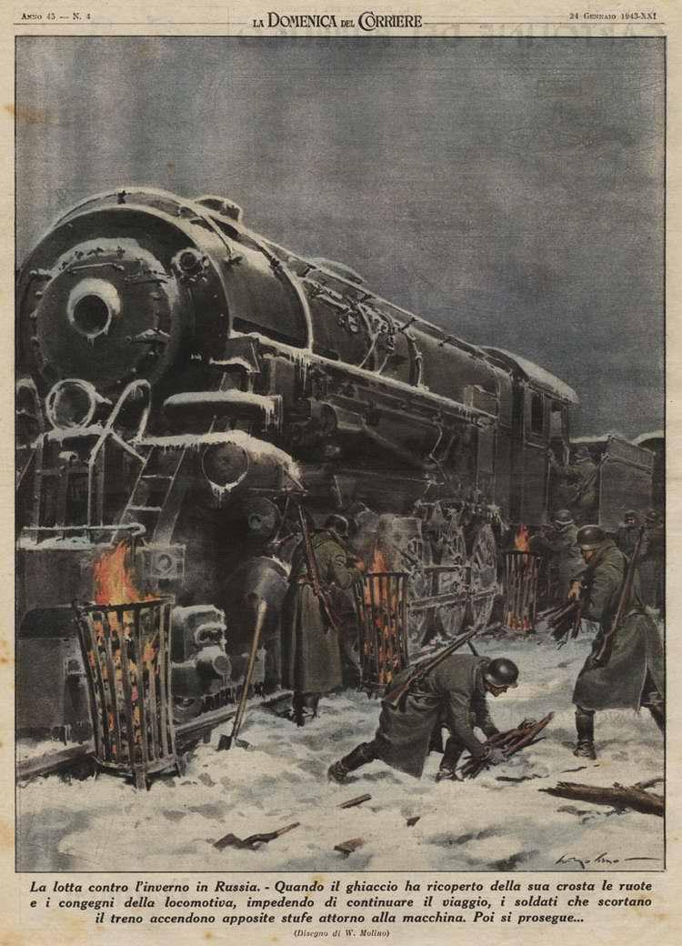 Борьба с зимой в России - Walter Molino