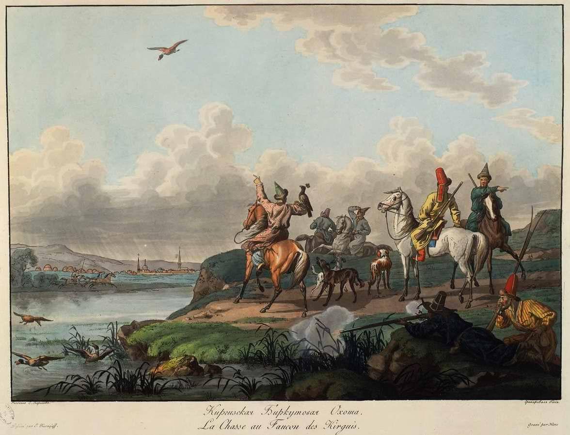 Киргизская охота с беркутом (1800)