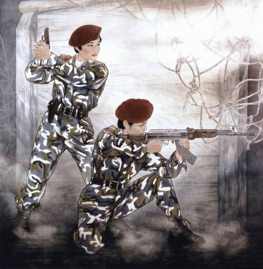 Девушки из спецназа народной