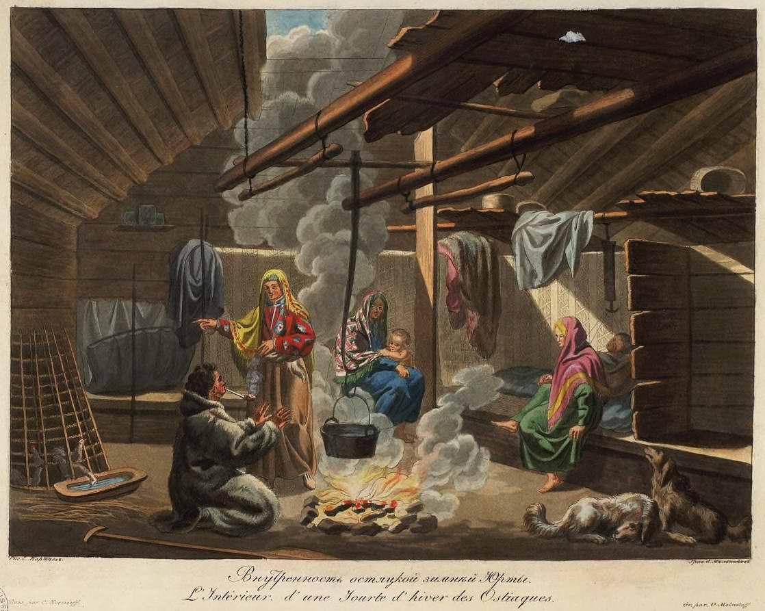 Внутренность остяцкой зимней юрты (1800)