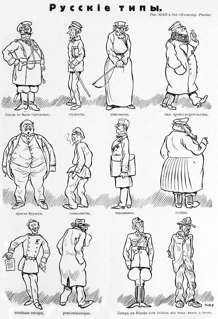 Русские дореволюционные и послереволюционные типы