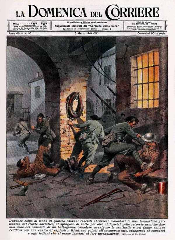 Смелая боевая акция четырех молодых фашистов в Абруццо - Walter Molino