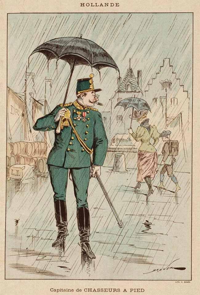 Нидерланды - Капитан егерского полка (1850)