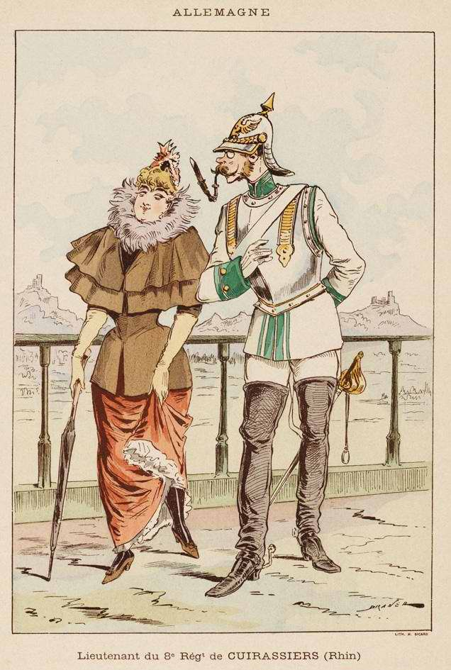 Германия - Лейтенант 8-го кирасирского полка (1850)
