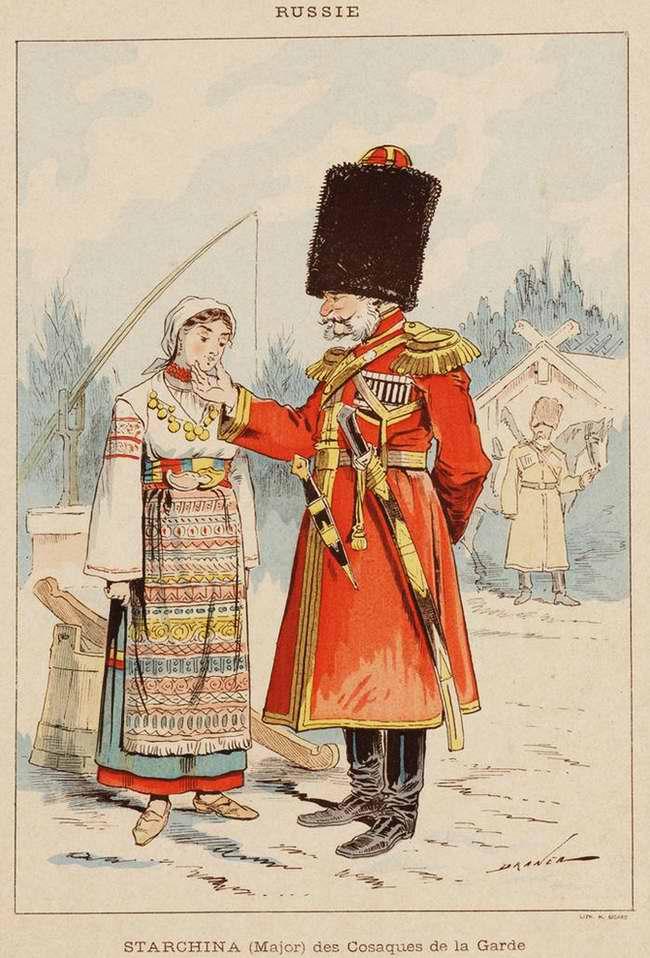 Россия - Старшина (майор) лейб-гвардейского казачьего полка (1850)