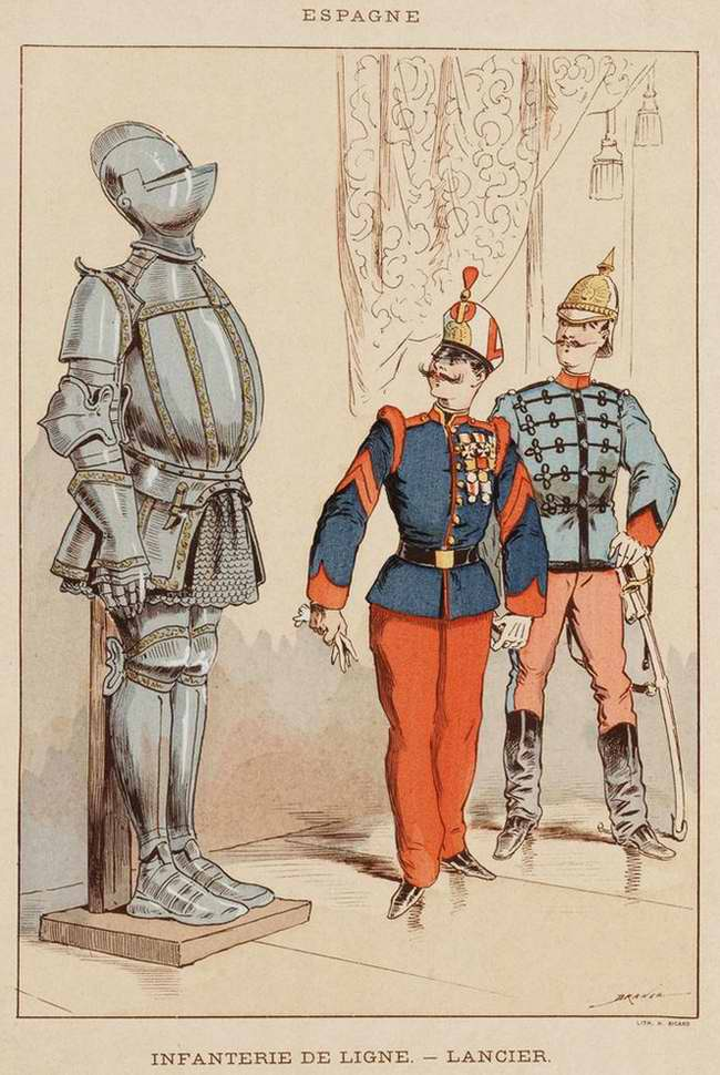 Испания - Пехотинец и улан (1850)