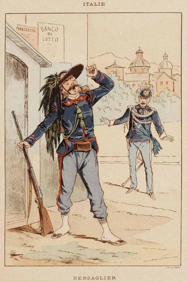 Италия - Берсальер (стрелок корпуса мобильной легкой пехоты) (1850)