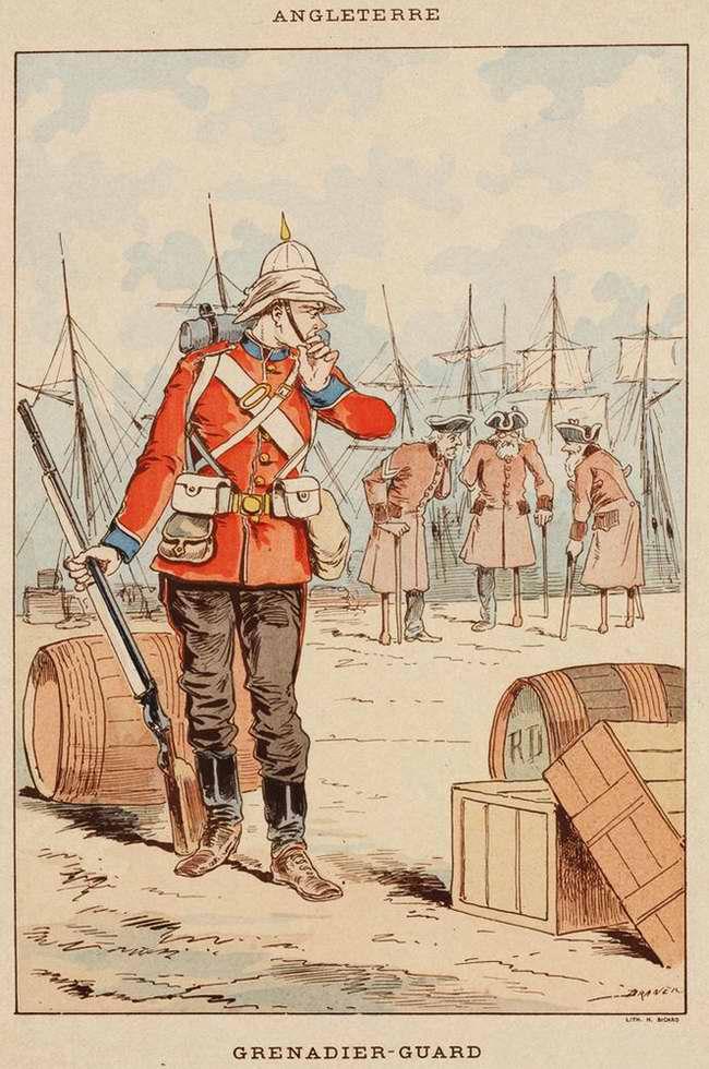 Англия - Гренадер-гвардеец (1850)