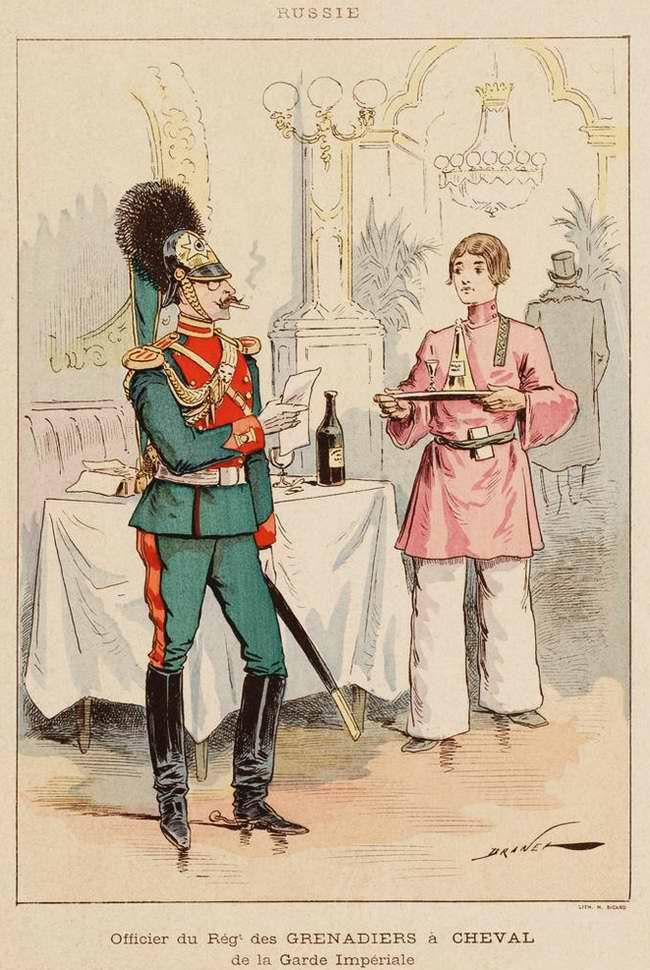 Россия - Офицер конно-гренадерского полка императорской гвардии (1850)