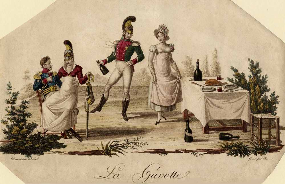 Французский танец Гавот - 1815