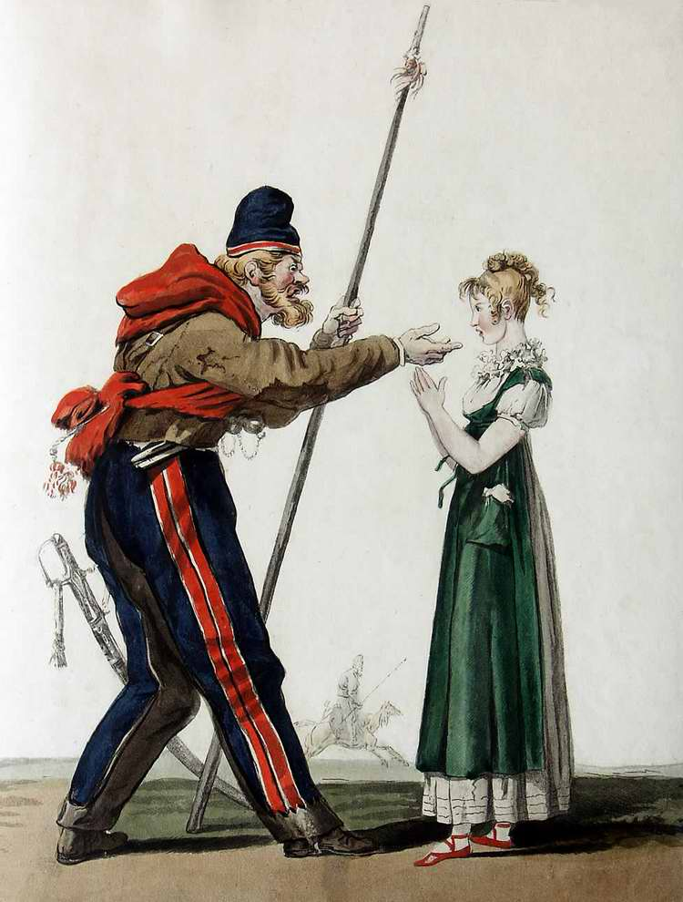 Галантный казак - 1815 (Франция)