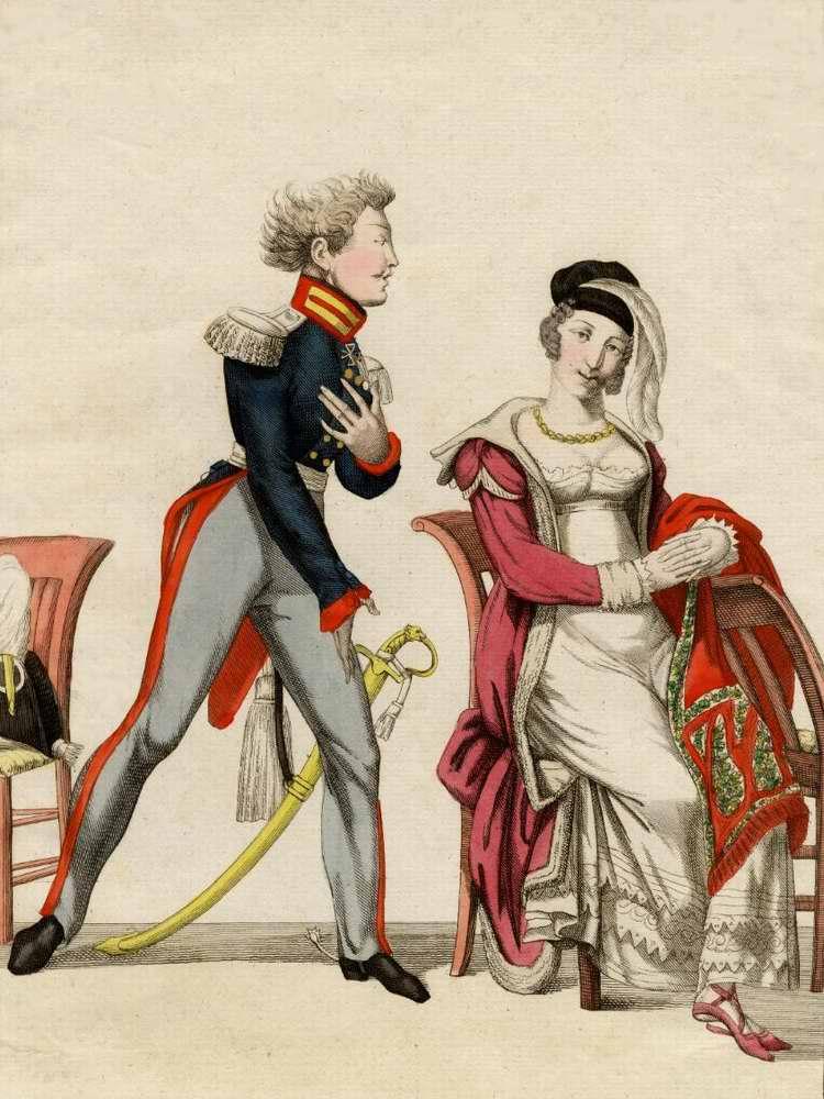 Галантный пруссак (немец) - 1815 (Франция)