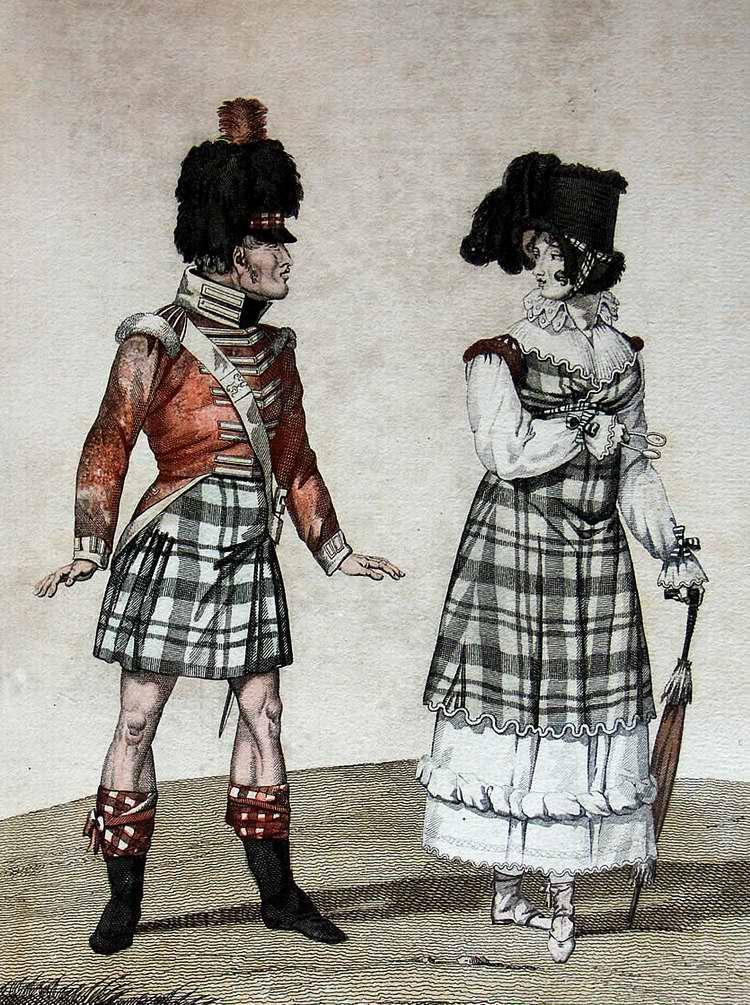 Новая мода или шотландец в Париже 1815 (Франция)