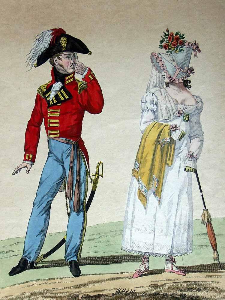 Любитель английского стиля в Париже 1815 (Франция)