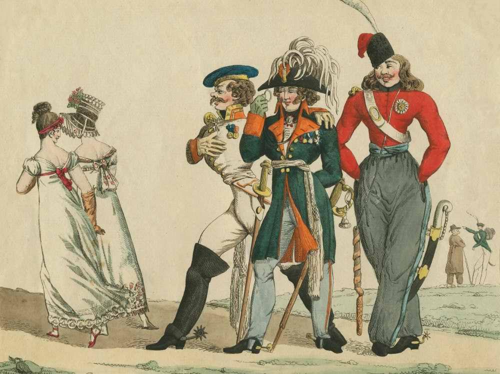 Костюмы русских - 1815 (Франция)