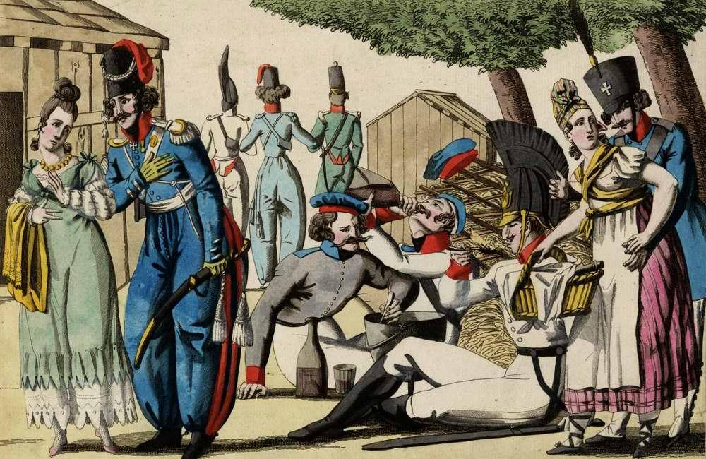 Прусский лагерь в садах Люксембурга - 1815 (Франция)