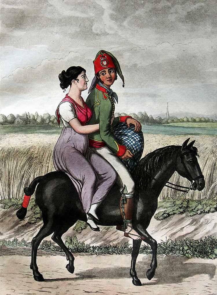 Испанский офицер со своей женой - 1808 (Испания)