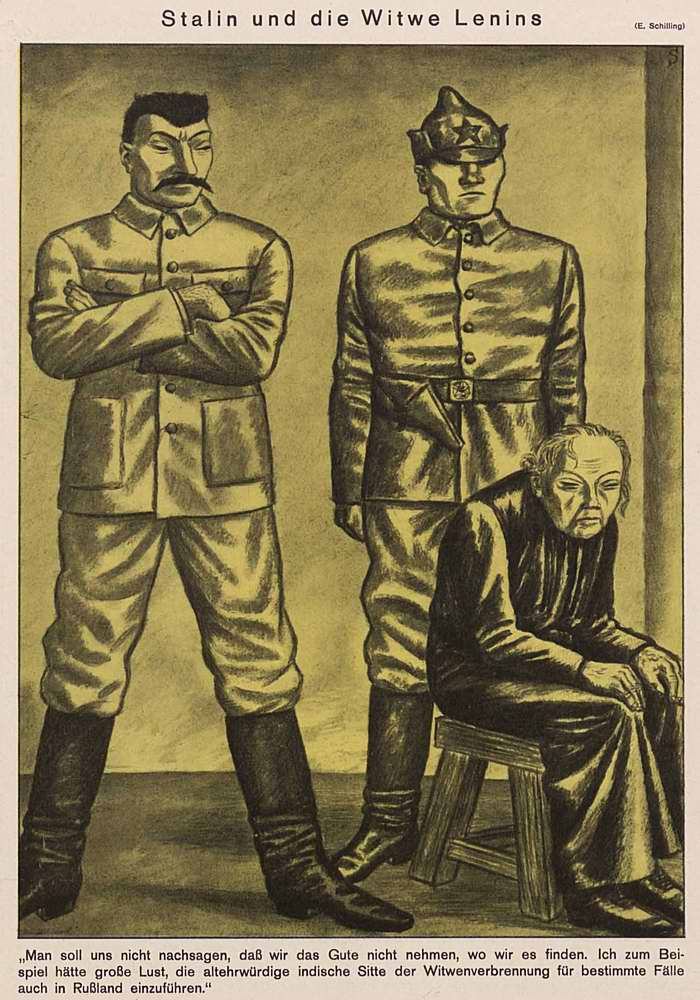 Сталин и вдова Ленина (Simplicissimus)