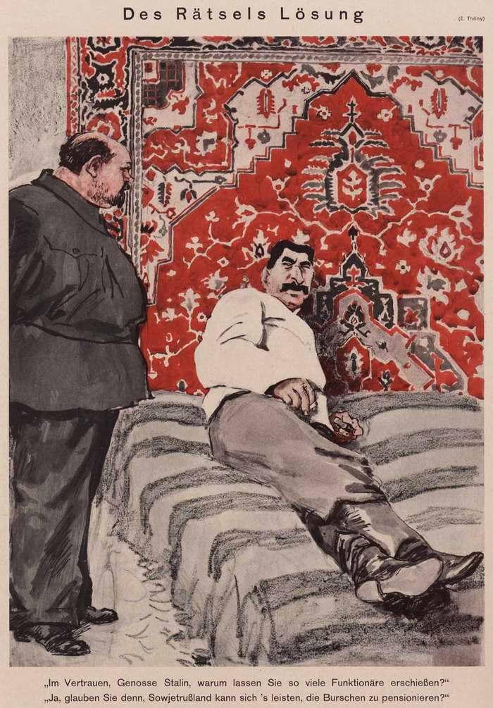 Сталин указывает на способ решения головоломки (Simplicissimus)