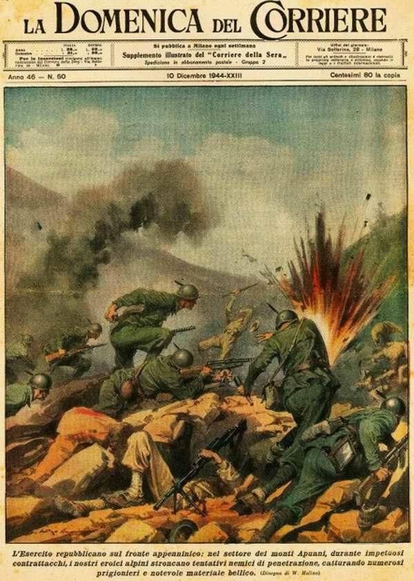 Итальянская республиканская армии в Апуанских горах - Walter Molino