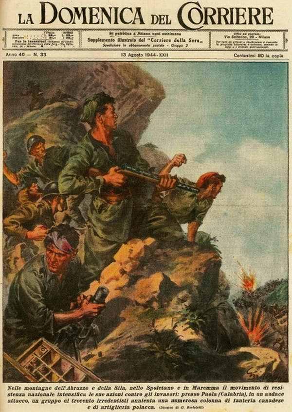 В горах Абруццо и Калабрии активизировали свою деятельность против англо-американских захватчиков представители местного национального сопротивления - G. Bertoletti