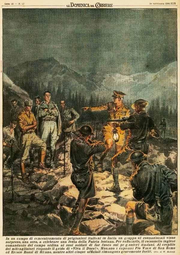 В одном из концентрационных лагерей для итальянских военнопленных на территории Индии группа итальянцев решила отпраздновать национальный праздник своей страны - Achille Beltrame