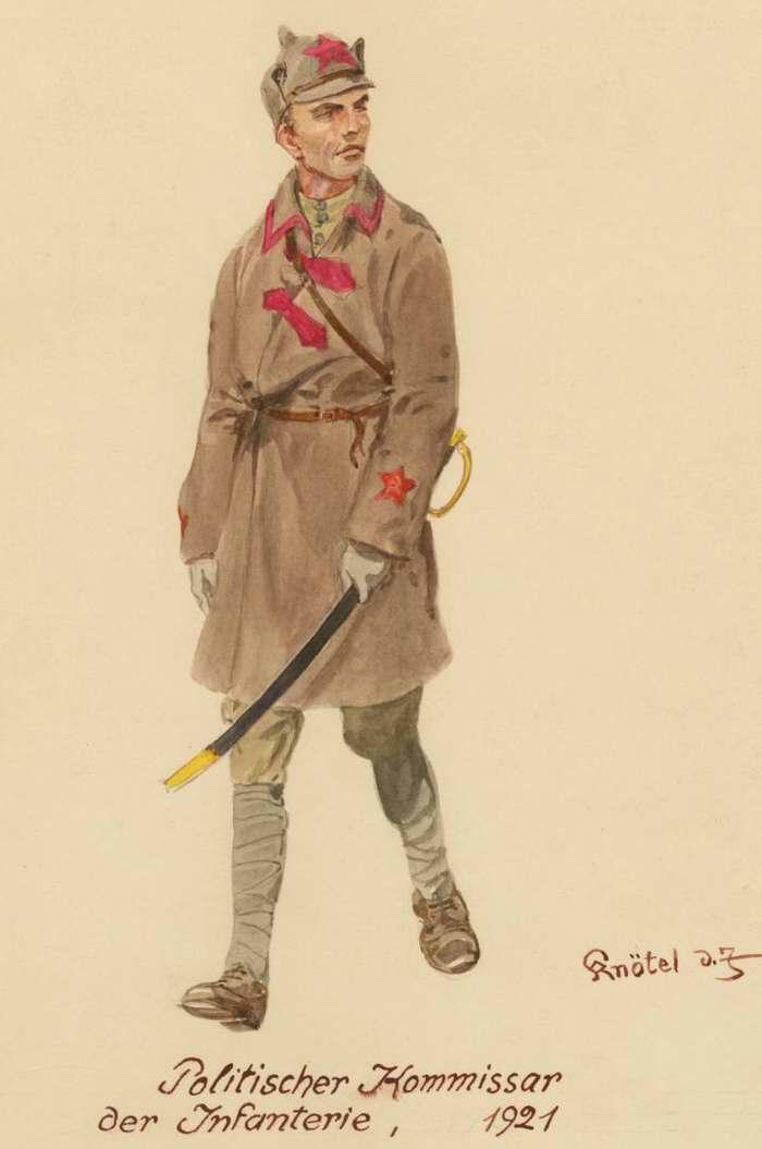 Пехотный политкомиссар Красной Армии - 1921 г. (Herbert Knotel)