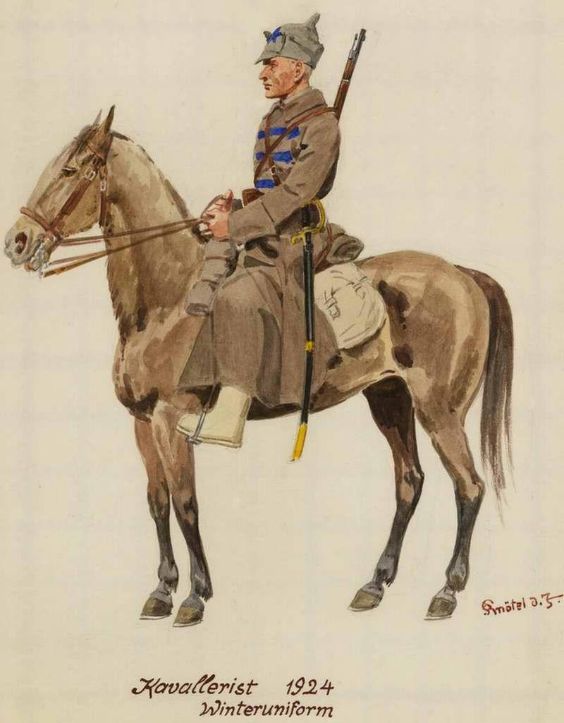 Кавалерист в зимней форме - 1924 г. (Herbert Knotel)