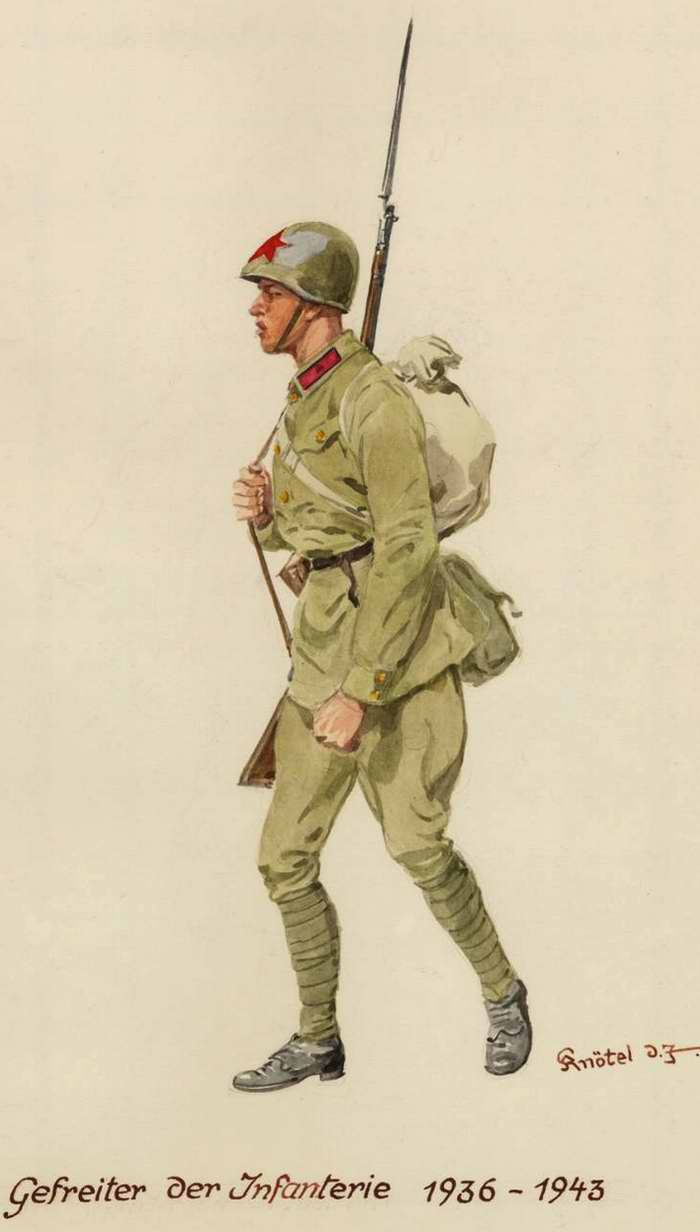 Ефрейтор-пехотинец - 1936 - 43 г.г. (Herbert Knotel)