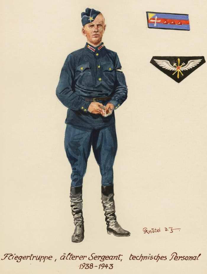 Старший сержант, наземный техник ВВС - 1938 - 43 г.г. (Herbert Knotel)