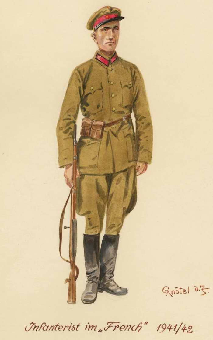 Пехотинец в гимнастерке - 1941 - 42 г.г. (Herbert Knotel)