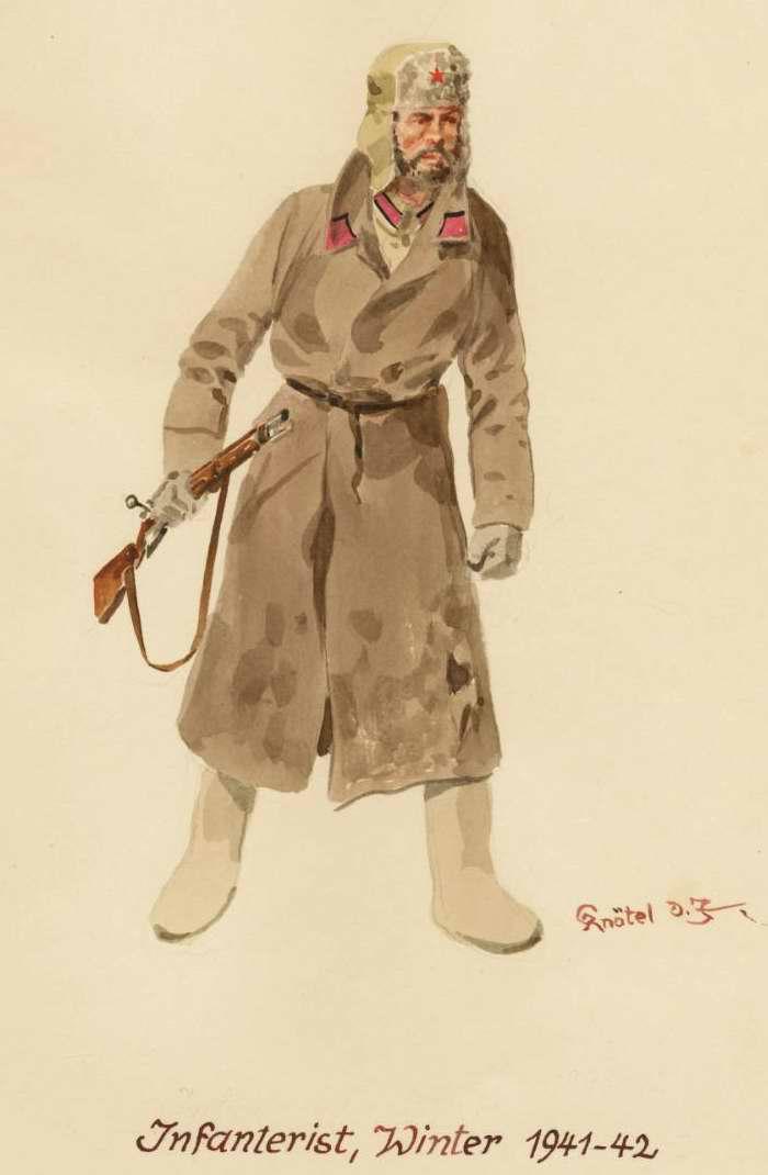 Пехотинец - зима 1941 - 1942 г.г. (Herbert Knotel)