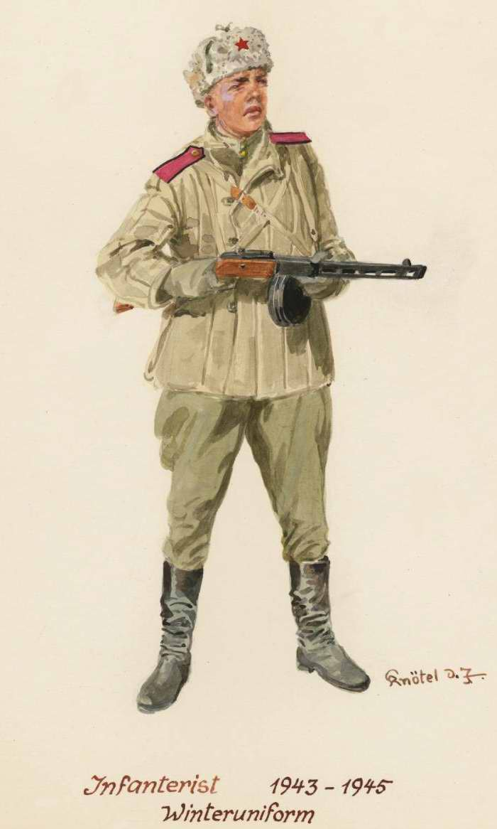 Пехотинец в зимней форме - 1943 - 45 г.г. (Herbert Knotel)