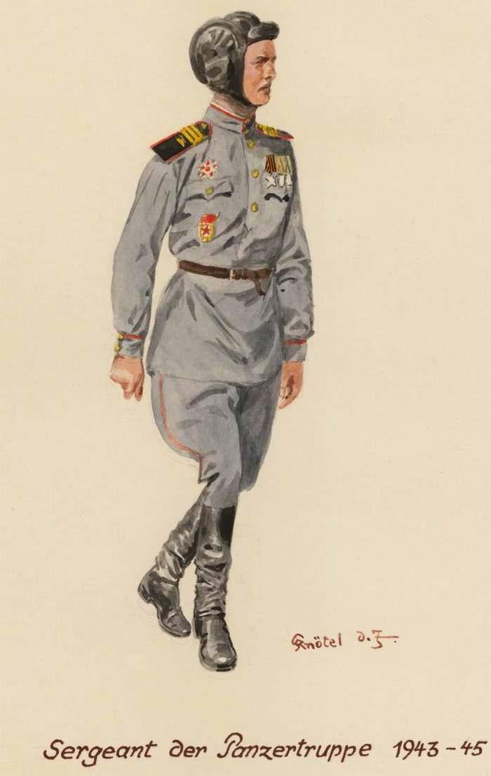 Сержант-танкист - 1943 - 45 г.г. (Herbert Knotel)
