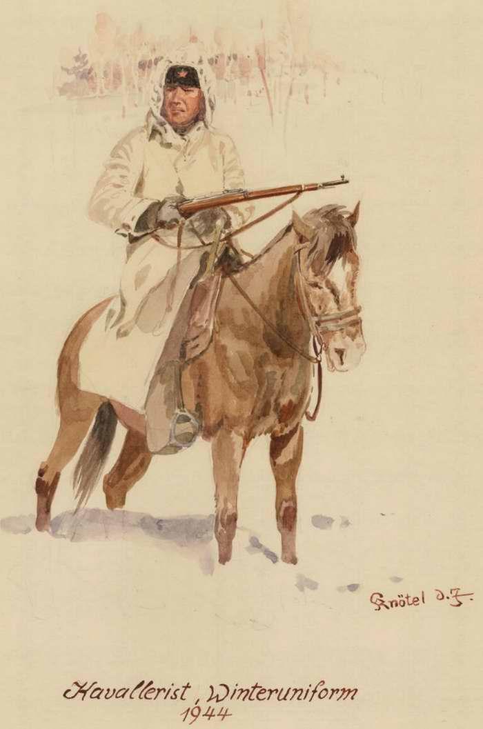 Кавалерист в зимней форме - 1944 г. (Herbert Knotel)