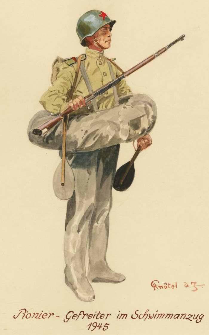 Ефрейтор-сапер в водонепроницаемом костюме - 1945 г. (Herbert Knotel)