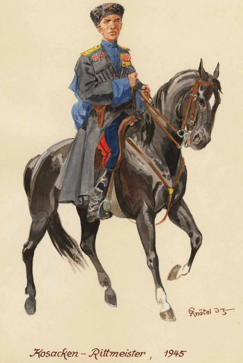 Капитан из подразделения кубанских казаков - 1945 г. (Herbert Knotel)