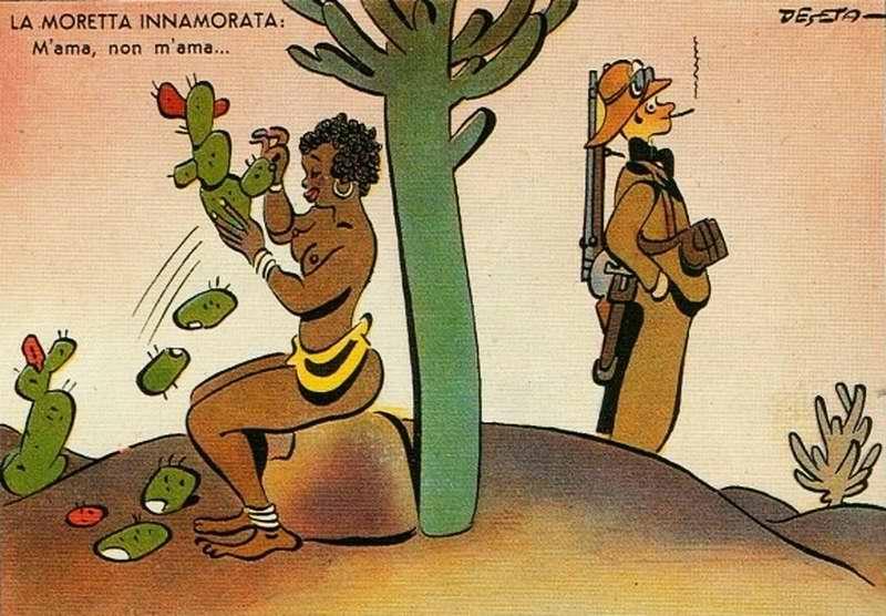 Африканская брюнетка в грезах о любви - Гадание на кактусе (Enrico De Seta)