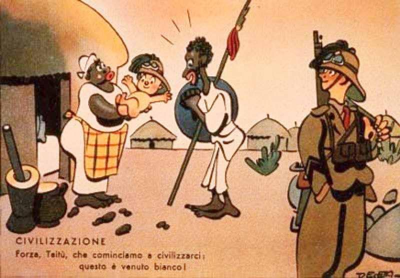 Цивилизационный прогресс - Похоже мы начинаем оцивилизовываться и поэтому у нас родился белый ребенок (Enrico De Seta)