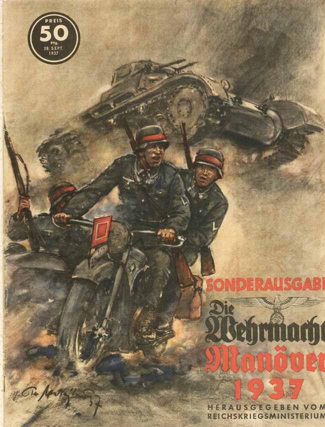 Войска немецкого вермахта на ежегодных маневрах 1937 года