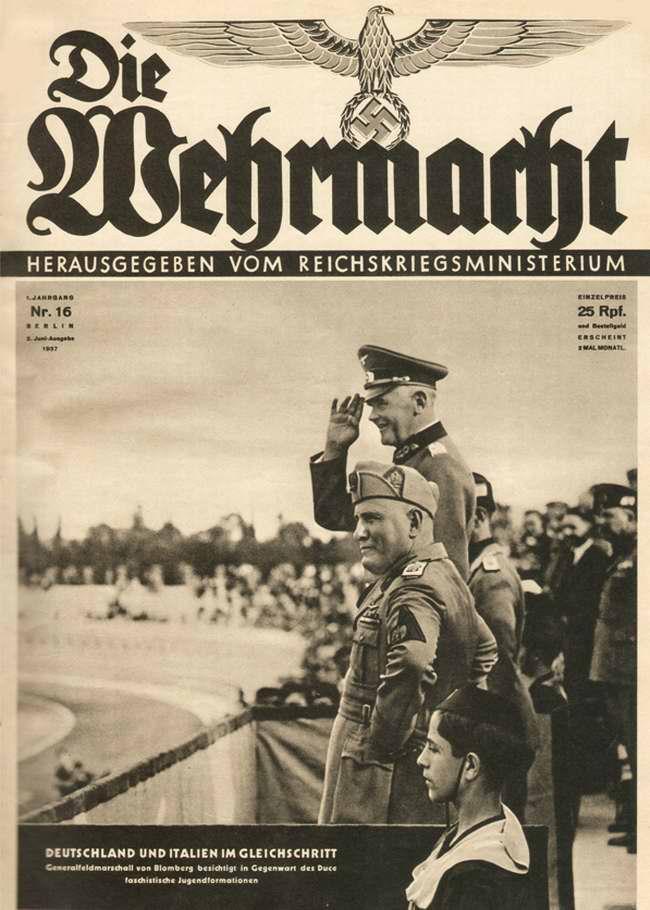 Воинские подразделения Германии и Италии идут в одном строю