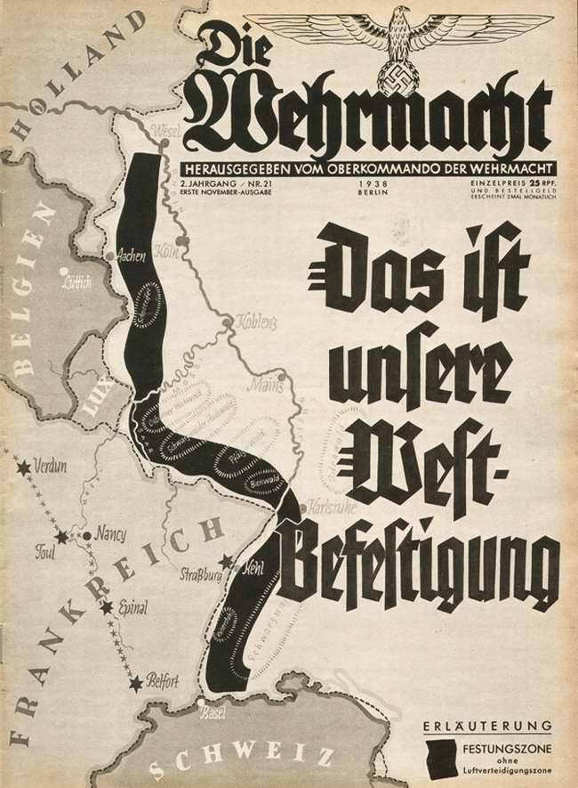 Немецкие западные укрепленные районы на карте