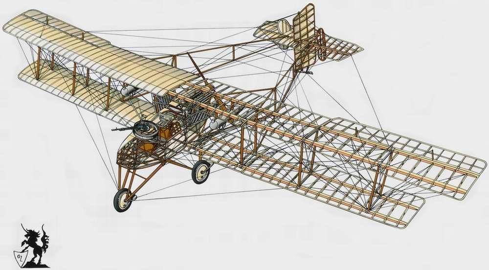 Breguet Michelin Br.M5 - бомбардировщик, 1915 год (Франция)