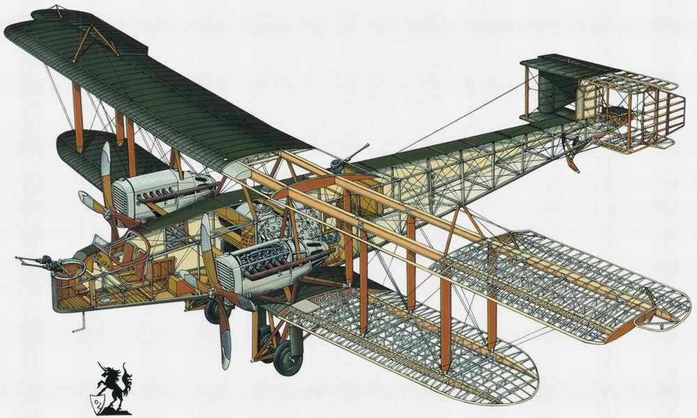 Handley Page O/400 - бомбардировщик, 1916 год (Великобритания)