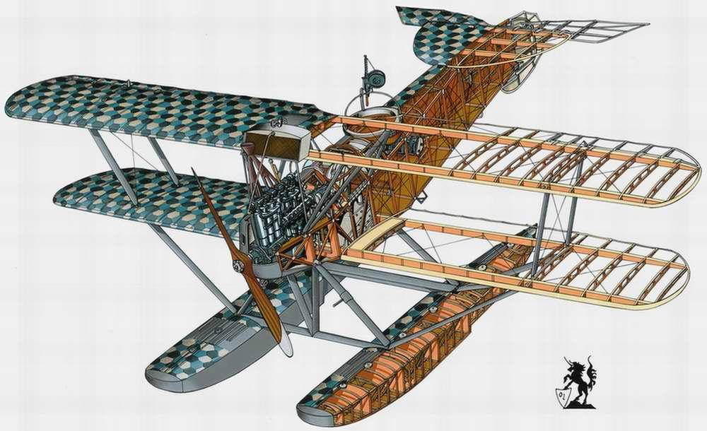 Hansa-Brandenburg W.12 - истребитель-гидроплан, 1917 год (Германия)